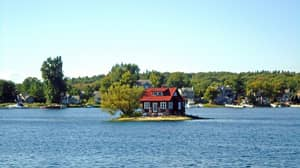 The World's Smallest Island Has Just Enough Room For A House And A Tree