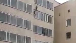 Hero Catches Boy Falling From 10th Floor