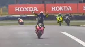 Superbike Racer Celebrates Prematurely And Ends Up Finishing In Third Place