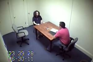 Murderer Who Was Caught On Live News Broadcast Keeps Body Eerily Still During Police Interview