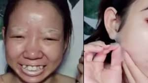 Creepy New Beauty Trend Sees Woman Completely Transform Into Different Person