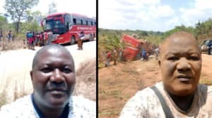 Passenger Takes Before And After Bus Crash Selfies