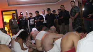 British Tourists Caught On Camera In Police Raid Of Illegal Orgy In Thailand