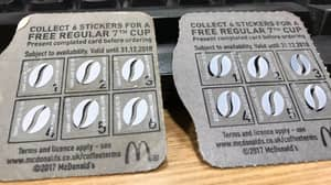 Police Arrest Man Found With Sheets Of Fake McDonald's Coffee Stickers