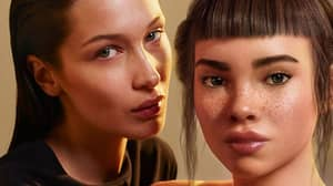 ​Calvin Klein Apologises For Advert Showing Bella Hadid Kissing Computer-Generated Model