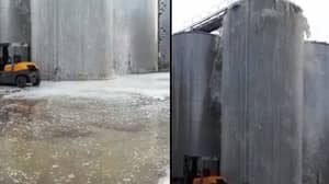 30,000 Litres Of Prosecco Becomes A Fountain After Tank Explosion