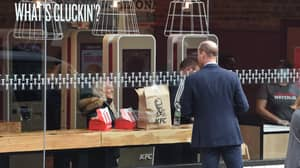 Prince William Caught Eyeing Up KFC During Royal Engagement In London