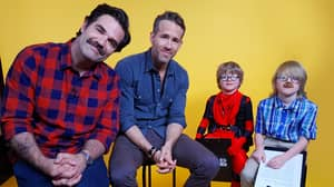 Ryan Reynolds And Rob Delaney Are Grilled By The Little LADs