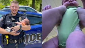 Rookie Cop Heroically Saves Baby From Choking In Bodycam Footage