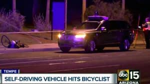 Footage Released Of Self-Driving Uber Car Hitting Cyclist