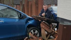 Viral Sensation Ronnie Pickering Pictured Sipping Pint Next To Crash Scene
