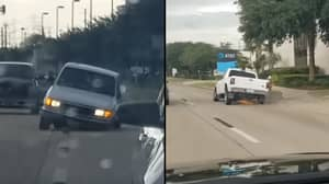 Man Decides To Keep Driving After Wheel Falls Off His Car