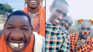 Moment Members Of The Maasai People See Snapchat Filters For The First Time