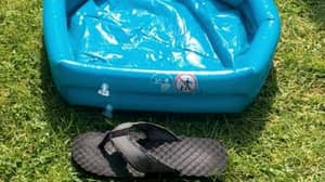 Mum Accidentally Buys Paddling Pool The Length Of Her Shoe