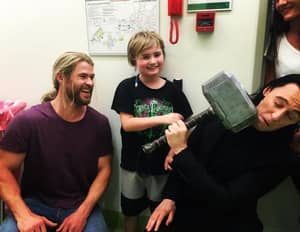 Thor And Loki Actors Visited A Children's Hospital During Break From Filming