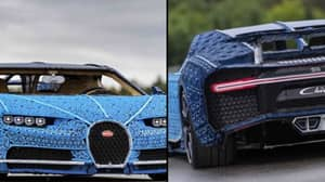 Driveable Bugatti Chiron Is Made Out Of One Million LEGO Bricks And 2,300 Toy Motors