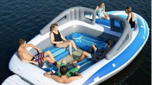 Amazon Is Selling An Inflatable Speedboat With Built-In Drinks Cooler
