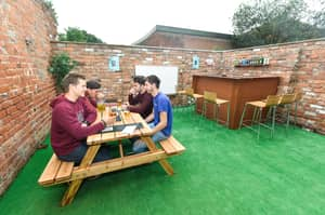 Student Builds A Beer Garden For His Housemates And It's Amazing