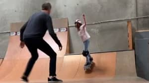 Tony Hawk Helps His Daughter Overcome Her Skateboarding Fear