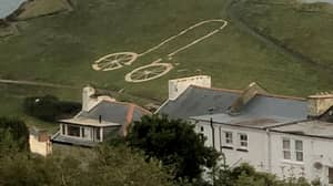Vandals Turn Tour Of Britain Hillside Bike Into A Giant Penis