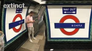 Iconic Tube Station Renamed '__________ & Castle' To Raise Awareness Of Endangered Wildlife