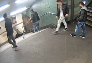 Cash Prize Being Offered To Anyone Who Can Catch Thug Who Booted Woman Down Stairs