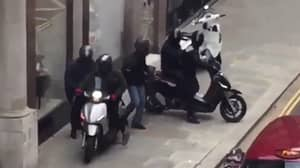 Six People Filmed Carrying Out Dramatic Robbery In London With Sledgehammer