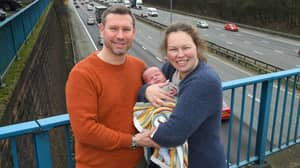 Baby's Official Place Of Birth Is M60 Junction 16 After Motorway Delivery