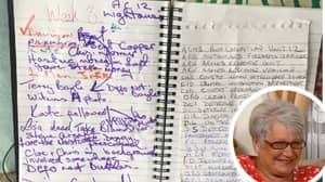 Gogglebox Shares Close Up Shot Of Jenny Newby's Line Of Duty Notepad