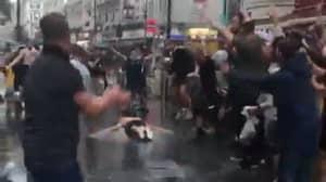 Scotland Fan Slides On His Chest Across London Pavement Before Euros Clash
