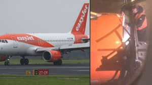 Passenger Films The Moment Engineer Fixes Plane Engine With Tape