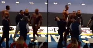 Sore Loser Bodybuilder Punches Judge Because He Gave Him A Poor Score
