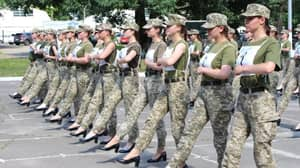 Female Ukrainian Soldiers Forced To Parade in High Heels