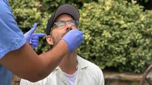Blake Lively Photographs Ryan Reynolds Getting Coronavirus Test