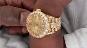 Floyd Mayweather Buys New Grandson A Diamond-Encrusted Rolex