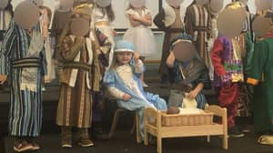 Little Girl Dressed As Mary Flips Off The Audience During Nativity