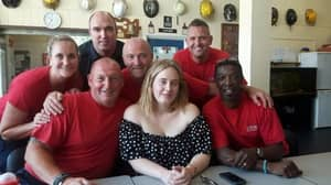 Adele Visits Grenfell Tower Firefighters And Brings Along Cake For Good Measure