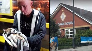 Father With Daughter's Dying Puppy Turned Away From Vet