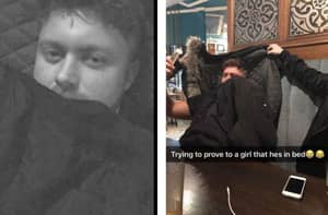 Man Pretends To Girlfriend He's In Bed And Not In The Pub With Snapchat