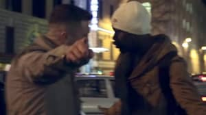 Former EDL Leader Tommy Robinson Filmed Punching 'Migrant' In The Face