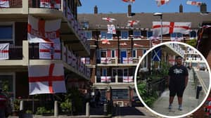 Lone Scotland Fan On Estate Full Of England Flags Explains His Plan For If They Win