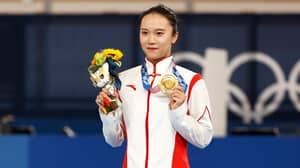 Chinese Gymnast Zhu Xueying Claims Her Gold Olympic Medal Is Peeling