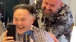 Man In Hysterics After Asking Barber For Kim Jong-un Haircut