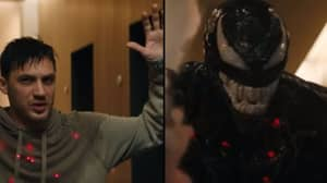 Tom Hardy Morphs Into Venom For Brutal Fight Scene As Exhilarating New Footage Is Released