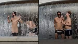'Brits Aboard' Strip Naked In Famous Rome Monument And Outrage Locals