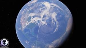 Bizarre White Line Spanning 13,000 Miles Captured On Google Earth