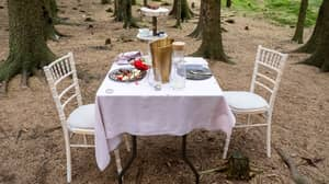 Mysterious Table For Two Found In The Woods Of The Lake District