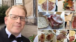 Bloke Given Award From Pork Industry For His Extensive Amount Of Bacon Sarnie Reviews