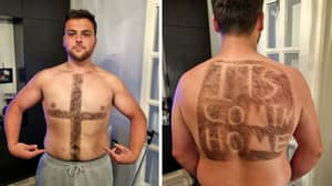 England Fan Shaves 'It's Coming Home' Into Hair On His Back