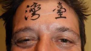 Drunk Brit Gets Chinese 'Taiwan' Tattoo… On His Forehead